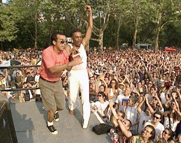 Primeiro show ao vivo foi no festival SummerStage, nos EUA, onde Chico também fez participação na apresentação de Gilberto Gil. Foto Arquivo RTV/Divulgação