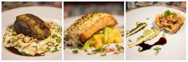 Cardápio oferece opções de entrada, prato principal e sobremesa. Fotos: Coquetel Molotov Produções/Divulgação