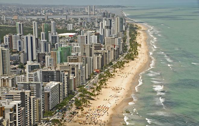 Boa Viagem, junto com Olinda e Porto de Galinhas, está entre os atrativos mais visitados. Foto: Carlos Oliveira/Prefeitura do Recife/Divulgação