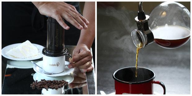 A Malakoff Café Gourmet trabalha com cerca de onze tipos de métodos diferentes de preparo da bebida