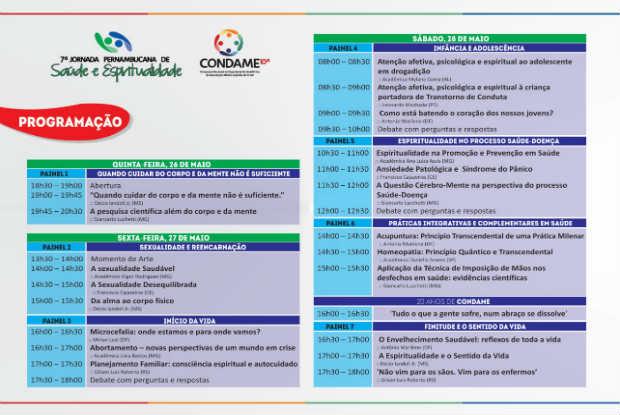O encontro é promovido pela Associação Médico-Espírita do Estado de Pernambuco. Foto: Divulgação.