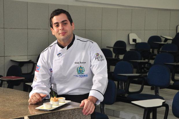 Uma das aulas será ministrada pelo chef Erick Buarque. Foto: Paulo Paiva/Esp.DP/D.A Press