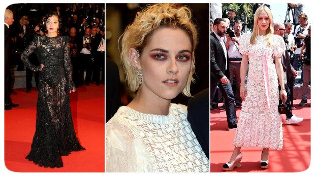 Ruth Negga, Kristen Stewart e Chloë Sevigny fizeram escolhas duvidosas para o tapete vermelho de Cannes. Fotos: Reprodução da internet