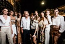Espedito Seleiro foi homenageado em desfile da estilista cearense Gisela Franck, no Dragão Fashion deste ano. Foto: DFB/Divulgação