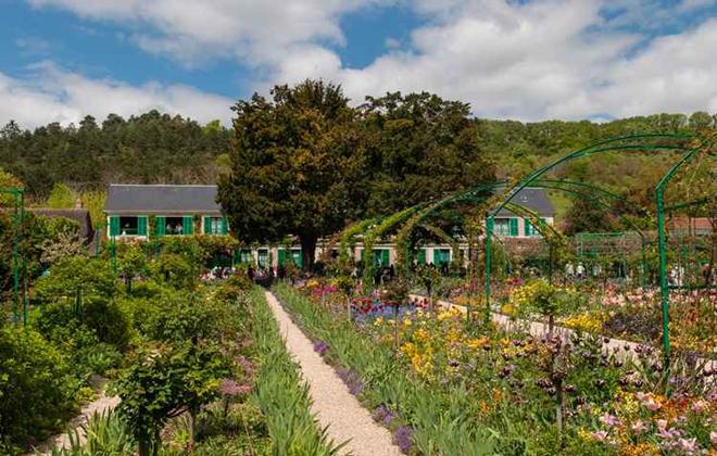 Jardins da casa de Claude Monet, em Giverny, França. Foto: Michael Osmenda/Wikimedia Common