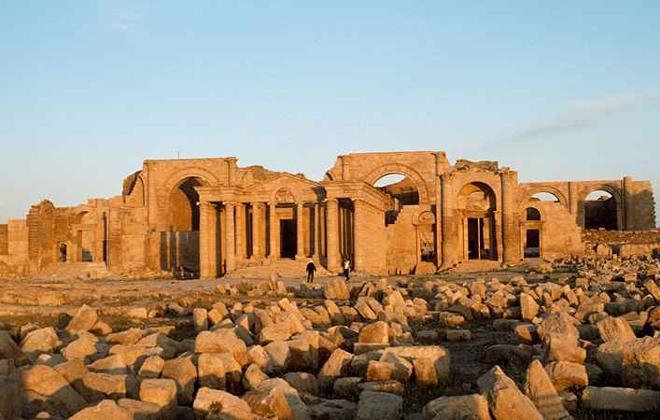 O sítio arqueológico, na cidade de Hatra (Iraque), também foi destruído pelos terroristas do EI no passado. Foto: Alamy/National Geografic