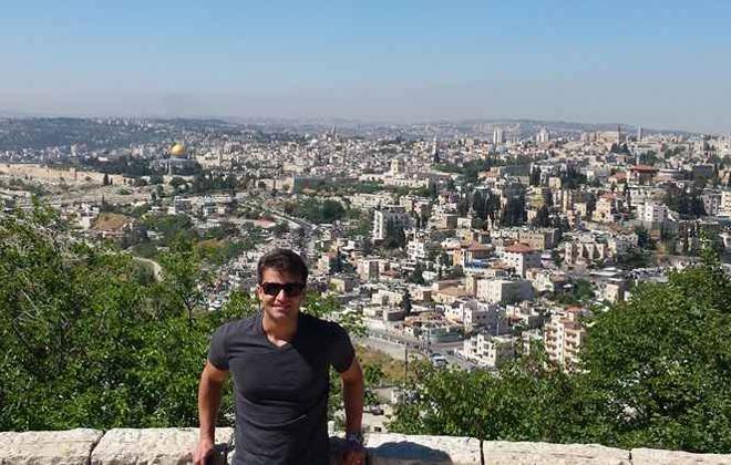 Vitor Carulla foi a Jerusalém, mas não visitou a área mulçumana. Foto: Arquivo pessoal
