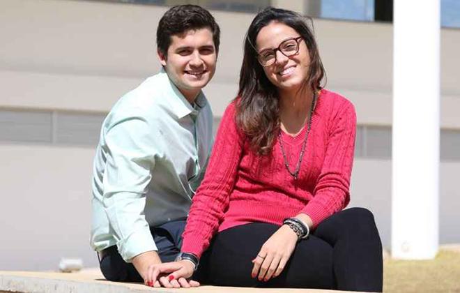 Yasmim e Felipe pretendem curtir as atrações românticas de Campos do Jordão. Foto: Rodrigo nunes/Esp. CB/D.A. Press