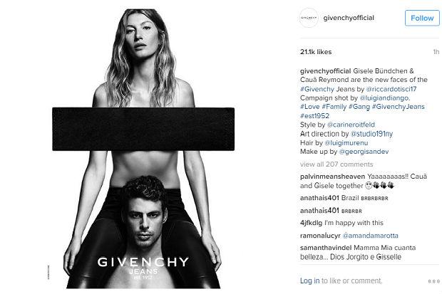 Givenchy vinha revelando teasers da campanha, mas sem mostrar o rosto dos eleitos. Foto: Reprodução/Instagram