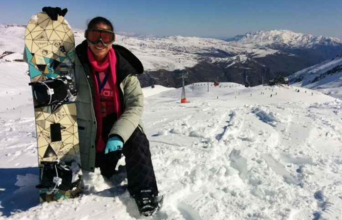 Larissa esquiou em Valle Nevado e diz que a viagem foi incrível.Foto: Arquivo pessoal