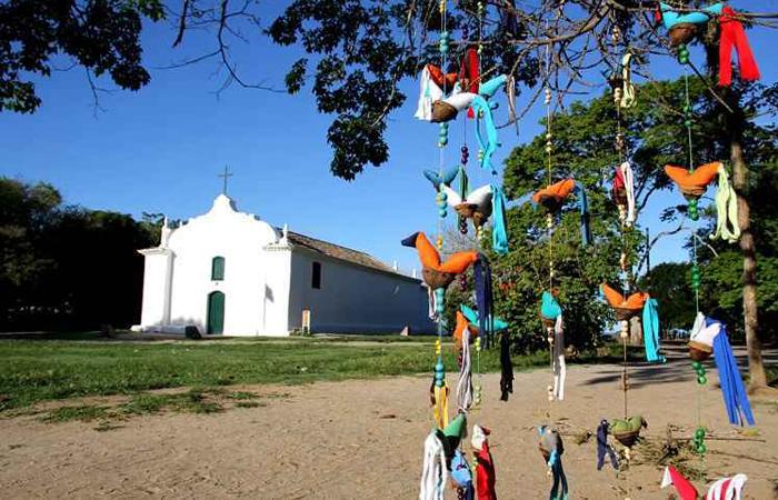 A igreja de São João Batista, simples e singela, é um dos novos roteiros para casamento: festas exclusivas. Foto: Rodolfo Vilela/MTur