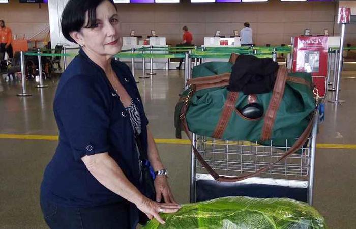 Ileana também não dispensa a proteção, pois teve a bagagem violada no ano passado. Foto: Rafaella Panceri/CB/D.A. Press