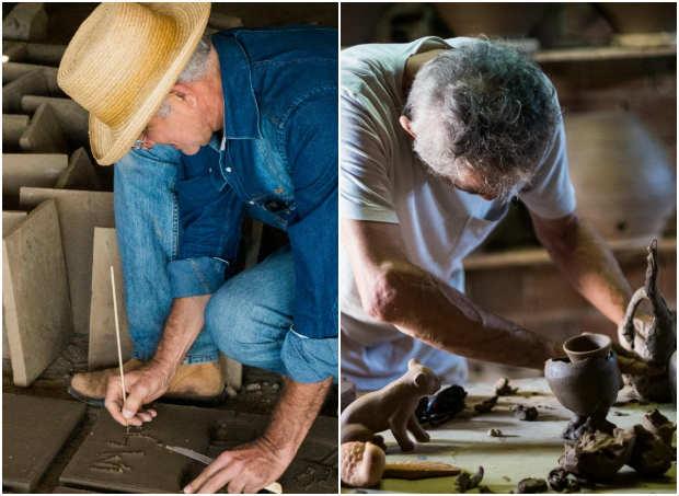 Artistas plásticos conheceram os processos de produção dos objetos, mestres artesãos e contextos socioculturais. Foto: Reprodução Facebook