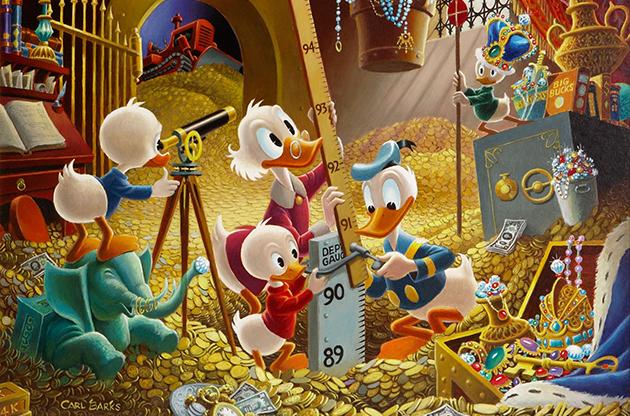 Na aposentadoria, artista se dedicou a registrar os patos em pinturas a óleo. Foto: Disney/Divulgação