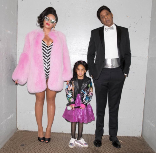 Beyoncé, Blue Ivy e Jay-Z.  Foto: Instagram/Reprodução