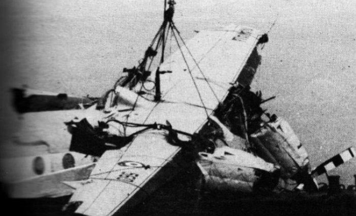 Avião da equipe peruana do Alianza Lima, que caiu no Oceano Pacífico em 1987. Foto: Reprodução (Avião da equipe peruana do Alianza Lima, que caiu no Oceano Pacífico em 1987. Foto: Reprodução)