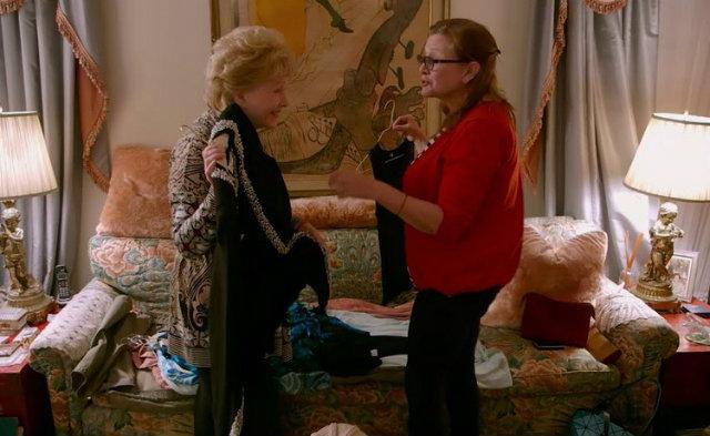 Documentário mostra a relação entre Debbie Reynolds e Carrie Fisher. Foto: HBO/Reprodução
