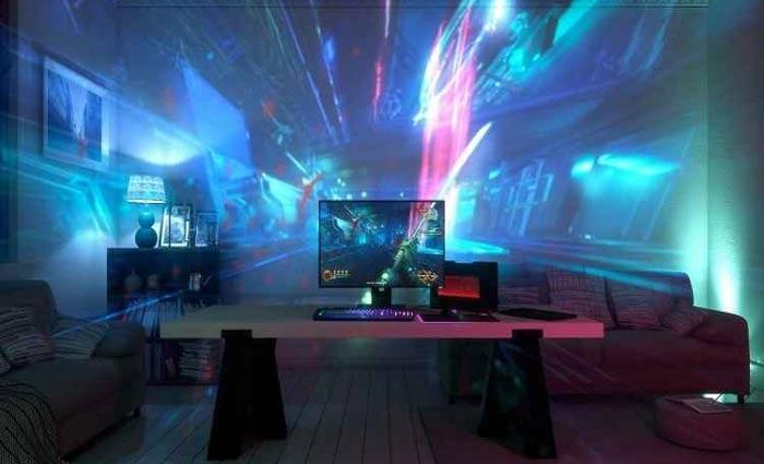 Com o Project Ariana, os jogadores interagem em tempo real com o que acontece na tela. Foto: Divulgação