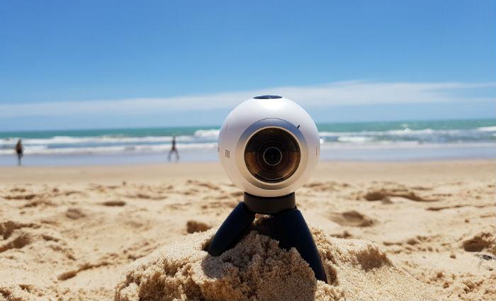 Câmera tem design inspirado em capacete de astronauta. Foto: Luciana Morosini/DP