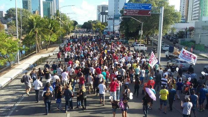 Avenida Agamenon Magalhães já está interditada por conta da mobilização. Foto: ACS/Divulgação (Avenida Agamenon Magalhães já está interditada por conta da mobilização. Foto: ACS/Divulgação)