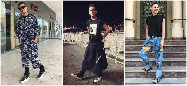 Caio usa as redes sociais para lançar suas tendências de estilo. Fotos: Instagram/@caiobraz/Reprodução