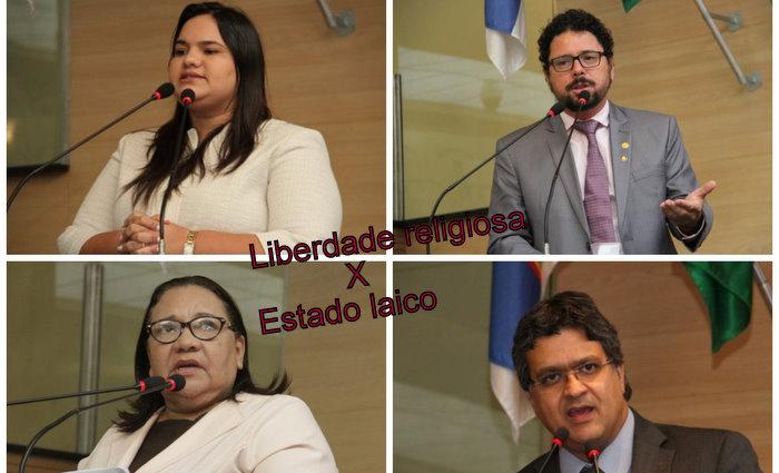 Michele Collins desistiu de apresentar requerimento ao Procurador Geral do Ministério Público. Fotos/Câmara do Recife/Colagem