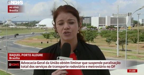 Jornalista foi interrompida durante o ao vivo nesta sexta-feira. Foto: Twitter/Reprodução