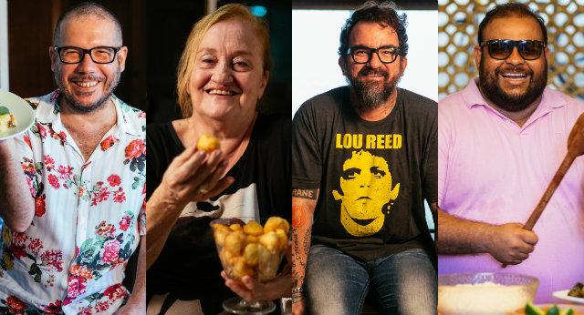 Músicos compartilham memórias afetivas e as aventuras na arte de misturar ingredientes. Fotos: Flora Pimentel/Divulgação