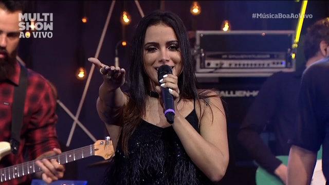 Anitta também gravou participação no Caldeirão do Huck, mas programa só vai ao ar neste sábado (10). Foto: Multishow/Reprodução