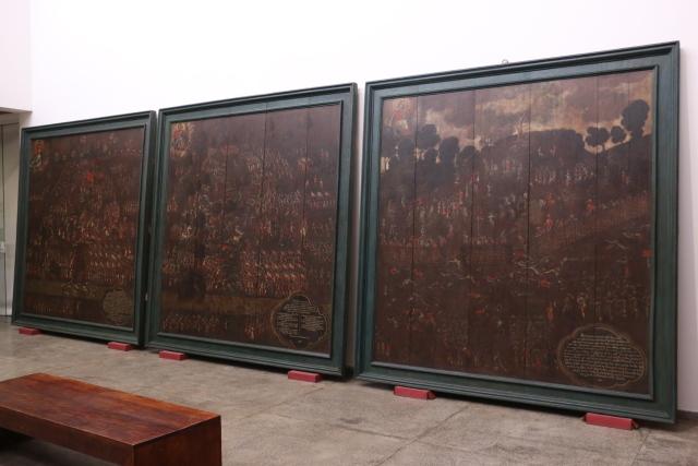 Representações da Batalha dos Guararapes em exposição no Museu do Estado. Foto: Gabriel Melo/Esp.DP.