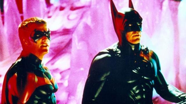 Chris O'donnell e Geoge Clooney em cena do filme Batman e Robin. Foto: Warner/Divulgação