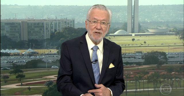 Apresentador do Bom Dia Brasil, Alexandre Garcia não respondeu as provocações. Foto: Globo/Reprodução