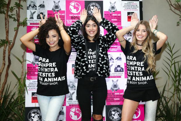 Maju Trindade, Paola Antonini e Ana Lídia Lopes são as novas embaixadoras digitais da marca.  Foto: The BodyShop/Divulgação