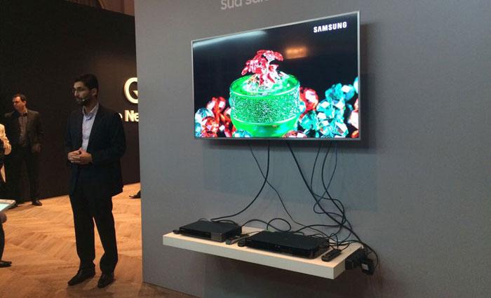 Valores das novas TVs da Samsung variam entre R$ 10 mil e R$ 87 mil. Foto: Marcela Cintra/DP