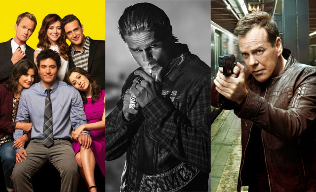 Glee, Sons of Anarchy e 24 Horas são algumas das séries que deixam o catálogo. Fotos: Fox/Divulgação