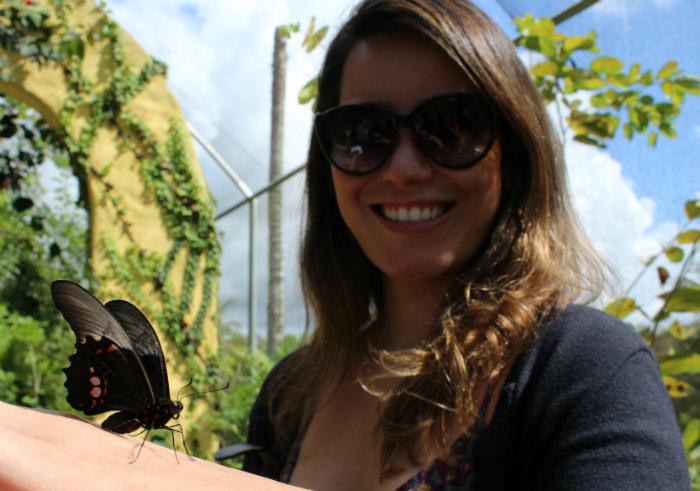 Borboletário Asas Mágicas permite ao turista interagir com os insetos e testemunhar o nascimento das borboletas. Foto: Adaíra Sene/DP (Borboletário Asas Mágicas permite ao turista interagir com os insetos e testemunhar o nascimento das borboletas. Foto: Adaíra Sene/DP)