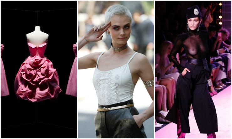 Exposição da Dior, pixie platinado e transparência são algumas apostas das passarelas e das primeiras filas da Semana de Alta-Costura. Fotos: AFP/Divulgação