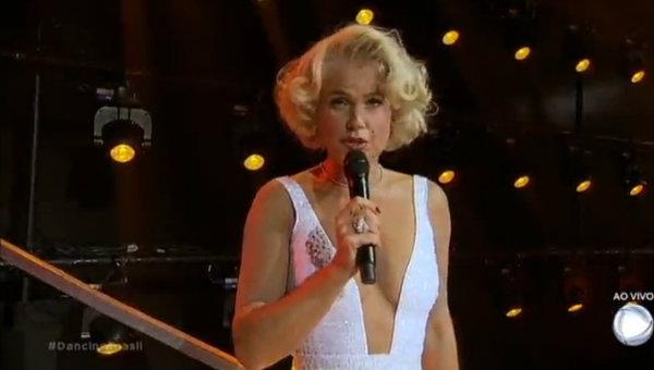 Xuxa encarnou Marilyn Monroe na noite dos ícones da cultura pop