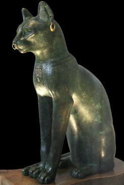 Na mitologia egípcia, a deusa Bastet era uma das figuras sagradas. Foto: Wikipedia