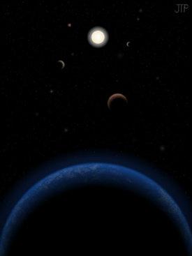 Reprodução da Tau Ceti: a 12 anos-luz de distância, é visível a olho nu. Foto: J.Pinfield para a rede RoPACS na Universidade de Herfordshire