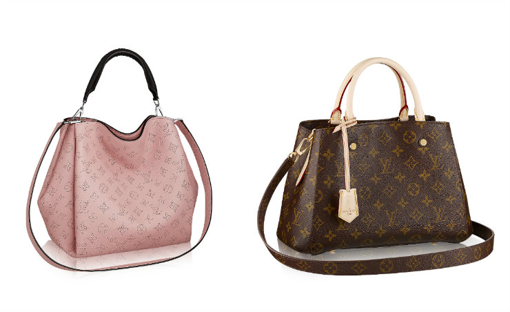As bolsas da Louis Vuitton, reconhecidas pelas iniciais da marca, são objetos de desejo na história da moda. Fotos: Louis Vuitton/Divulgação