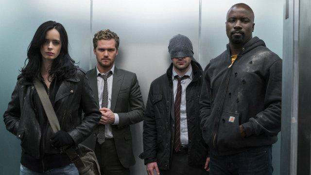 Após séries individuais, Jessica Jones, Punho de Ferro, Demolidor e Luke Cage se encontram em Os Defensores. Foto: Netflix/Divulgação