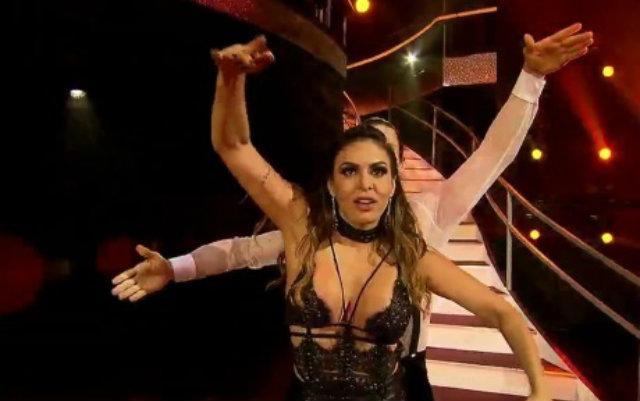 Alinne Rosa e Ygor foram os eliminados do Dancing Brasil desta semana. Foto: Record/Reprodução