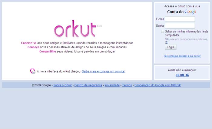 Orkut foi pioneiro e criou tendências que são seguidas até hoje - Foto: Divulgação/Google