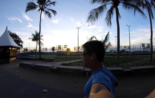 Quando não está competindo, Raphael Neto também corre e contempla paisagens (Raphael Netto / Arquivo Pessoal)