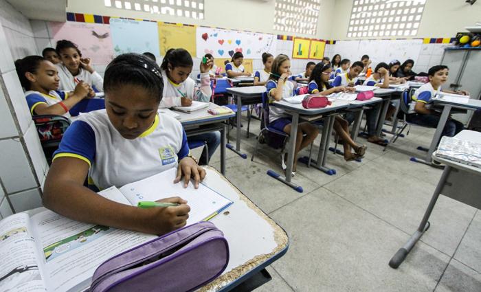 Bom desempenho garantiu à escola Lagoa Encantada atenção do poder público e recuperou a estima dos moradores locais. Foto: Rafael Martins/DP