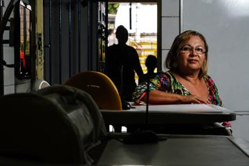Sileide Gonçalves reforça com os alunos a importância da avaliação. Foto: Rafael Martins/DP