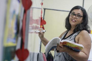 Vilma Silva afirma que os indicadores servem para trabalhar as competências que os alunos tiveram maior dificuldade. Foto: Rafael Martins/DP