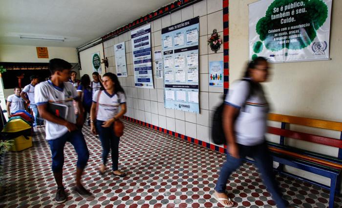 Escola Estadual Nossa Senhora Auxiliadora, na zona central da cidade, passou de mau exemplo à principal referência de João Alfredo. Foto: Rafael Martins/DP