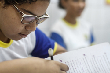Alunos se empenham para garantir nota boa para a escola. Foto: Rafael Martins/DP